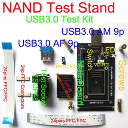 Wholesale Fpc Connectors - Wholesale- USB3.0 2.0 NAND TEST Stand, IC Erase Test Sort Burn-in Kits,compatible with USB2.0,FFC FPC Connector,replaceable Socket & scheme