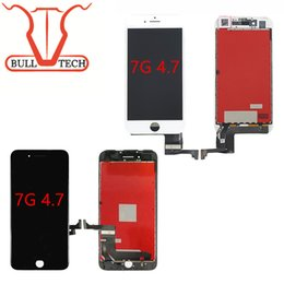 Wholesale Iphone Touch Glass - Quality A+++ LCD Display For iPhone 7 Shencha LCD Screen Touch Glass Screen Digitizer Full Assembly Replacement black&white DHL Shipping