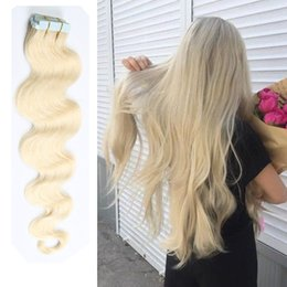 Wholesale Remy Skin Weft Hair - Top Grade Tape in Human Hair extensions 16-26 inch Brazilian Virgin Human Hair Extension PU Skin Weft Body Wave 80g 40 Pcs Multi Colors