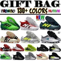 Wholesale Best Indoor Soccer Shoes - New Best ACE 17+ Purecontrol Primemesh IC TF Football Shoes Men X 16 Purechaos FG Soccer Cleats Indoor Nemeziz Football Boots Predator Mania