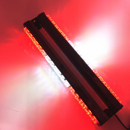 Wholesale Magnetic Led Roof Light - 36 LED Long Row Car roof Police flash Light Mini Ceiling Strobe Beacon Double Row LED Warning Lights with Magnetic Emergency Lig