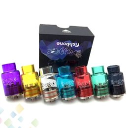 Wholesale Fish Glasses - Newest Glass FishBone RDA Stainless steel and Glass RDA Clear Tank Fish Bone RDA Rebuildable Dripping Atomizers Fit 510 Mods DHL Free
