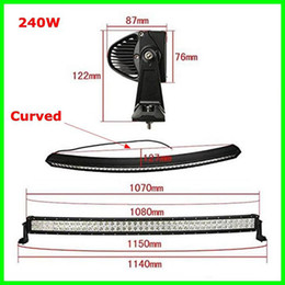 "Wholesale 42 inch light bar - 42"" Inch 240W Curved Spot Flood Combo Beam LED Light Bar for Work Driving Boat Car Jeep Ford Truck Tractor 4x4 SUV ATV Offroad Fog Roof Lamp"