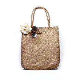 Wholesale Handmade Bags Summer Fashion - Wholesale-Summer fashion knitting tote bag women designer handmade rattan straw bags casual beach ladies shoulder bags torebki damskie