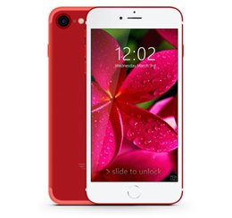 Wholesale Cheap Qwerty Gps - New Cheap Red Goophone i7 3G WCDMA Quad Core MTK6580 512MB 8GB Android 6.0 4.7 inch IPS 960*540 qHD GPS 8MP Camera Metal Smartphone Free DHL