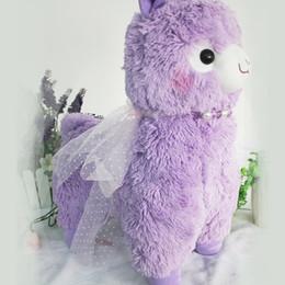 Biscoito rosa rosa on-line-Adorável macio 40 cm brinquedos de pelúcia alpaca peluche japão peluche arpakasso alpacasso kawaii ovelhas boneca de pelúcia crianças presente rosa roxo branco