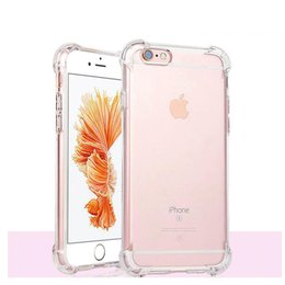Wholesale Iphone Skin Protect - Gasbag Shockrpoof Clear TPU Case For iPhone 5 5S SE 6 6S Plus S7 Edge HUAWEI P9 Soft Crystal Gel Thick Protect Skin Cover Free Shipping