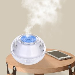 Wholesale New Crystal Atomizer - New Crystal USB Air Humidifier for Home Ultrasonic Mini Humidifiers with LED Night Light Air Fresher Atomizer Mist Maker Aroma Diffuser