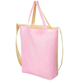Wholesale Bulk Stuffed - Wholesale- 1PCS Double Color Shoping Bag Green shopping bags Wholesale Bulk Lots Accessories Supplies Gear Items Stuff Products