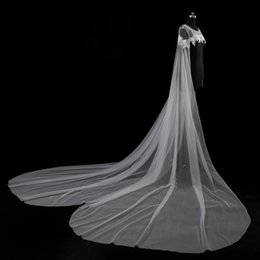 Wholesale Tulle Bridal Jacket Cape - 100% Own Design 2017 Real Pictures Newest Style Bridal Cape Jackets Lace Vintage White Ivory Wedding Applique Bolero Bridal Shrug Stunning