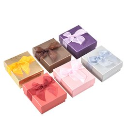 Wholesale Jewelry Packaging Bracelet Box Packing - Argositment Mixed color bowknot earrings bracelet gift jewelry box ring ,necklace packaging box(24 per pack)