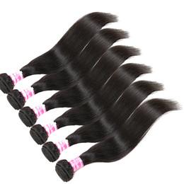 Precios de tejido mongol online-Precio al por mayor Precio: El cabello humano peruano malasio indio mongol camboyano brasileño sin procesar teje el pelo virginal recto natural 1B negro