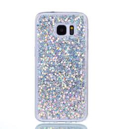caso di fetta Sconti Custodia per cellulare Fashion Flash slice per Samsung Galaxy S6 Custodia in silicone acrilico morbido in silicone TPU per Samsung S6