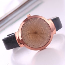 Wholesale Diamond Acrylic Powder - Fashion Full diamond fine belt watches Gold powder dial luxury women watch Korean version casual leather dress quartz wrist watches