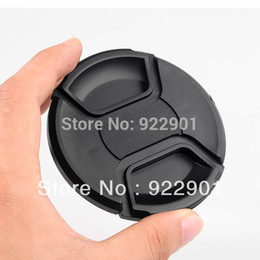 Wholesale Center Filter - Wholesale-52mm Center Pinch Snap on Front Cap for Lens   Filters 52 mm