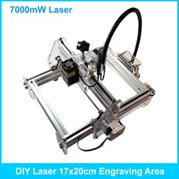 Wholesale Laser Cutting Machines - 7000mW Desktop DIY Laser engraving engraver cutting machine Laser mark on metal 17*20cm Working area