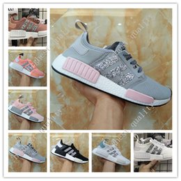 Wholesale Cheap Camo Shoes - Free shpiping 2017 Cheap new runner Mens And Womens NMD R1 PK running shoes in Black,White,olive green,Camo,Pink in top quality size 36-45