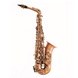 Wholesale antiques musical instruments - Wholesale- New 2016 Alto Saxophone Eb Sax E Flat Antique Copper Simulation Professional Musical Brass Instruments NAS-630B