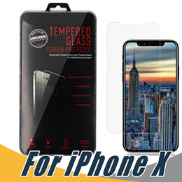 Wholesale Retail Screen - For iPhone X 8 7 6 Plus 5 Tempered Glass Screen Protector Anti-Shatter Film with Retail Package