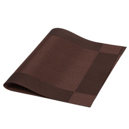 Wholesale square table cloths - Wholesale-Placemat Fashion PVC Dining Table Mat Disc Pads Bowl Pad Coasters Waterproof Table Cloth Pad Slip-resistant Pad QB678926