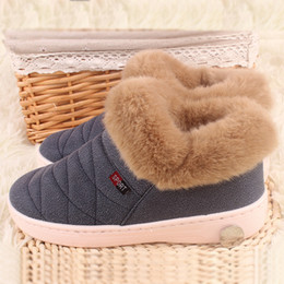 Wholesale Fabric Process - Wholesale-2016 women and men warm cotton boots sewing process durable non-slip shoes for winter unisex snow boot outdoor inside and