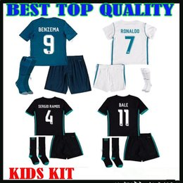 Wholesale Real Children - 2017 18 real madrid kids kit JERSEYS SOCCER ASENSIO RONALDO 2017 2018 camiseta de fútbol bale MODRIC SERGIO RAMOS child FOOTBALL SHIRTS