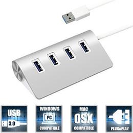 accesorios de aluminio de china Rebajas 2017 hot TypeC USB Hub 4 puertos Adaptador de Alta Velocidad Ultra-delgado Type-c a Multiple 4 Port Hub Adapter para Nueva MacBook Tablet Laptop Charging
