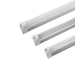 Wholesale Row Cree - 8FT LED T8 Tubes Double Row 8 foot T8 integrated LED Light Bulbs 65W 72W 7200LM 2.4M SMD2835 led fluorescent lighting Lamps
