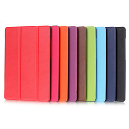 Wholesale kindle fire cases pink - Kindle fire7 leather case Tablet PC Cases Bags Chester protective cover three fold protection shell Tablet PC Accessories 012