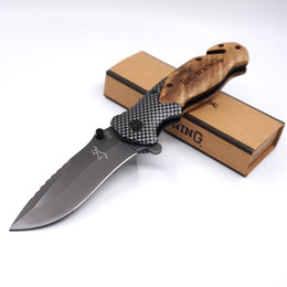 Browning X50 Cuchillo de caza táctico plegable de bolsillo 440C Hoja de acero Mango de madera Cuchillo de camping Cuchillos de supervivencia Cuchillos de pesca EDC desde fabricantes
