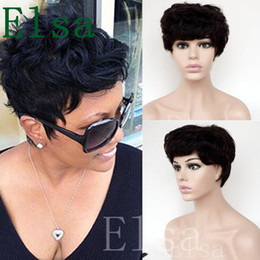 Wholesale New Short Black Curly Wig - Short Curly wigs for Black women cheap full lace Brazilian Pixie Cut Indian Human hair 100% human hair wigs new wigs