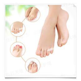 Wholesale toes separators - 2Pair Silicone Toe Separators Remove Corns Feet Remove Calluses Toe Protector Hallux Valgus Orthopedics Bunion Guard For Feet
