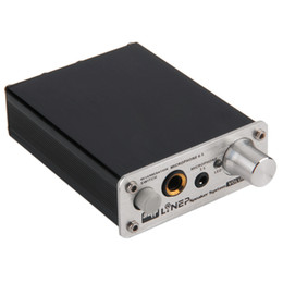 Wholesale Amplifier Professional - Freeshipping Professional HIFI Microphone Amplifier Dual 2 Channel Audio Stereo Amplificador Computer MP3 PC Microphone MIC Power Amplifier