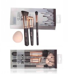 Wholesale Synthetic Essential Kit - 2017 HOT new Kylie Makeup Essential Travel Brush Set 3 pieces Makeup Tools DHL Free shipping