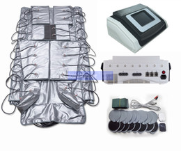 electric clothing Coupons - 3 in 1 pressotherapy machine infrared heat slimming wrap clothes pressure massage blood circulation EMS Electric Muscle Stimulation