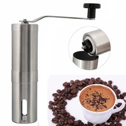 Wholesale Stainless Steel Manual Grinder Coffee - Coffee Bean Grinder Stainless Steel Hand Manual Handmade Coffee Grinder Mill Kitchen Grinding Tools For Home Restaurent Cafe Bar