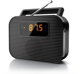 Wholesale Power Speaker Rechargeable - Wholesale-EU plug 2 band PLL portable dual alarm clock radio with led display FM AM two way power supply AC and battery