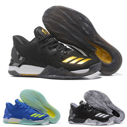 Wholesale Bhm Shoes - Wholesale MENS 2017 adidas New Colors D Rose 7 Low Englewood Boost Men Basketball Shoes Derrick Oreo BHM Bruce 7s Casual Sports Sneakers