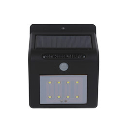 Wholesale Outdoor Wall Decor Wholesale - New Style LED Solar Light Waterproof 8leds Outdoor Lighting PIR Motion Sensor LED Solar Lamp Wall Lamps For Home Garden Corridor Decor