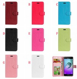 Wholesale X5 Green - Crazy Horse Wallet Leather Case For Samsung Galaxy A310 A710 J2 Prime LG X Max Style X5 V20 MOTO E3 Z Play Stand Flip Cell Phone Cover 50pcs