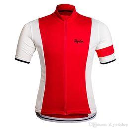 Wholesale Rapha Shorts - Cheep Rapha Cycling Jerseys Short Sleeves Cycling Clothes Bike Wear Comfortable Anti Bacterial Hot New Rapha Jerseys 8 Colors 2017