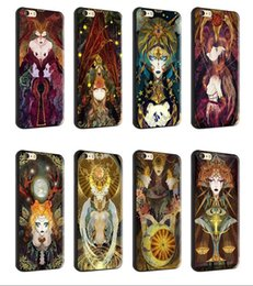 2019 protetores de celular Para iphone 7 plus 6 s plus tpu macio preto case tarot pintura protetora silicone engraçado casos de telefone celular desconto protetores de celular