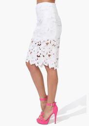 Wholesale Pencil Skirt Dress 16 - Fashion zipper Stripes Package Hip midi skirt White Black Flower Crochet hot sale women sexy new style Pencil skirts