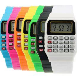 Reloj infantil con fecha de silicona, multiusos, teclado numérico, calculadora de muñeca desde fabricantes
