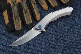 Rusia Oso Azul Luna D2 Tactical Cuchillo Plegable Cuchillo de Acero Cuchillo de bolsillo de Supervivencia Al Aire Libre Cuchillo de Bolsillo Utilidad EDC Herramientas de Colección de Regalo desde fabricantes