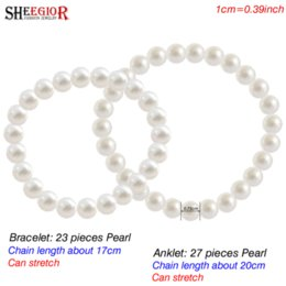 Wholesale Handmade Barefoot Sandals - Sexy Beach Barefoot Sandals Anklets for Women Handmade Long Imitation Pearl Foot Chain Jewelry Ankle Bracelets Accessories Gifts