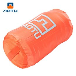 Wholesale Sleeping Bags Polar Fleece - Wholesale- AOTU Outdoor Camping Sleeping Bag Pro 2 Colors Traveling Ultra-light Multifunctional Portable Warm Polar Fleece Sleeping Bag