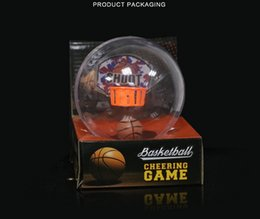 Wholesale Shooting Sports Wholesale - LED new style Creative new office, decompression pocket, mini basketball machine, children shooting basket, toy basketball machine by DHL