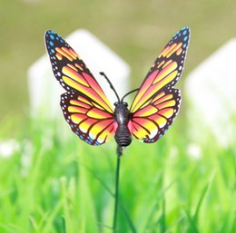 Wholesale 50PCS PACK Butterfly Garden Ornaments Patio Décor Butterfly Party Supplies Decorations for Outdoor Garden Butterfly Crafts Simulation