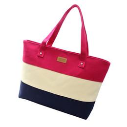 Wholesale Casual Canvas Hand Bags - Wholesale- Ladies Hand Canvas Big Beach Shoulder Women Messenger Tote Bags Female Handbags Famous Brand Sac A Main Femme De Marque Pochet